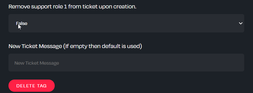 Multiple inputs for the TicketTag feature